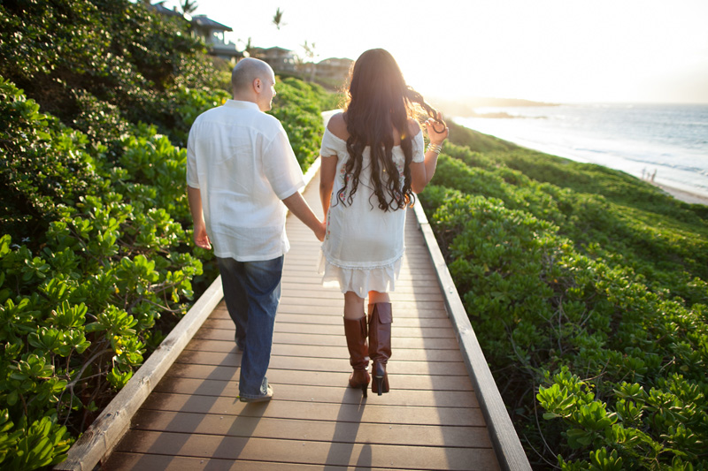 Ironwoods Beach Kapalua Engagement Photos