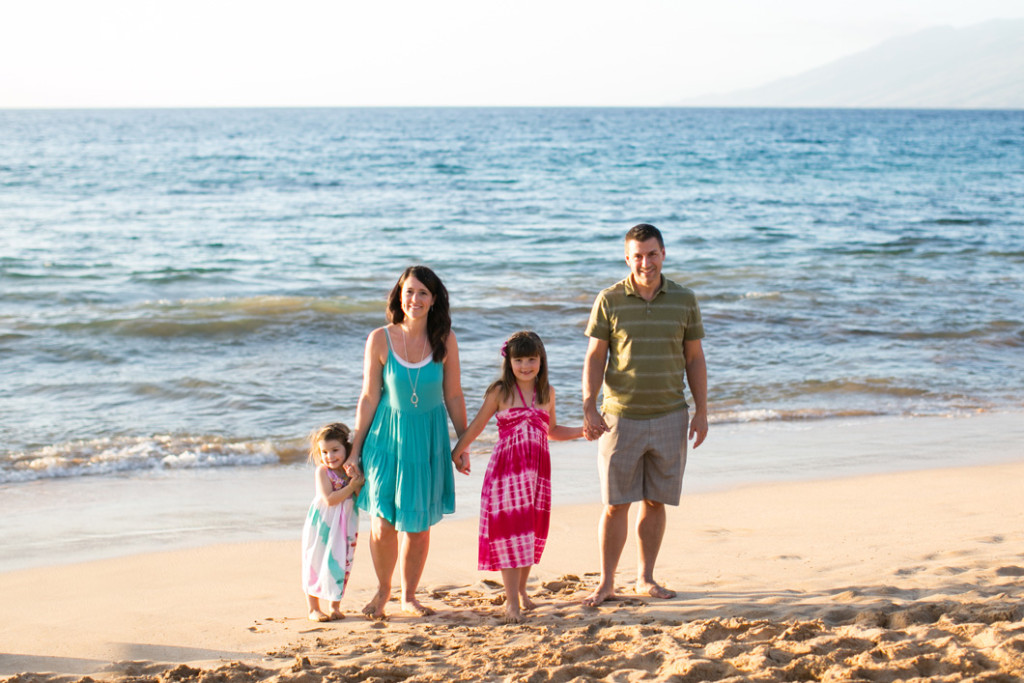 maui beach family photo
