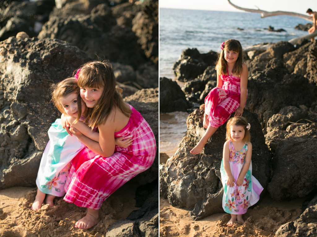 Wailea family session, sisters