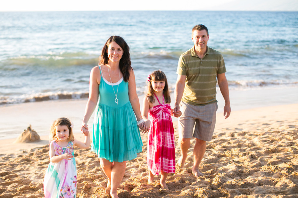 Wailea Beach family photo session