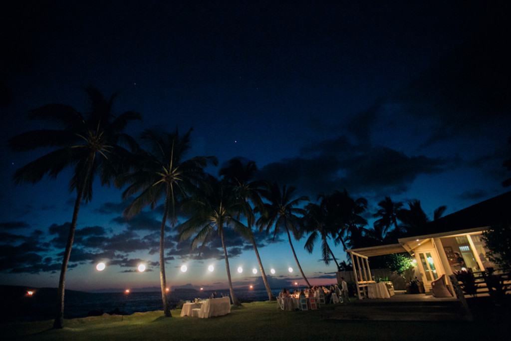 evening reception at White Orchid Beach House
