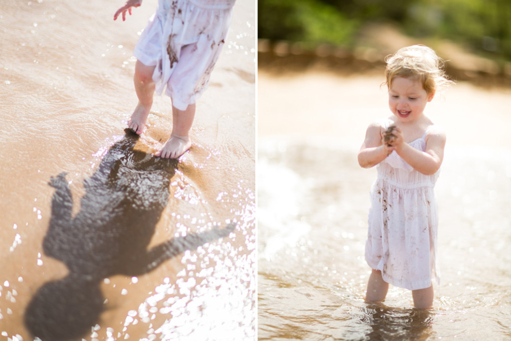 fun with sand and water on maui