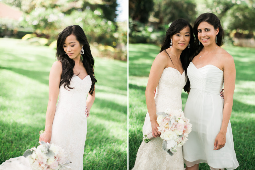 bride and maid of honor, olowalu