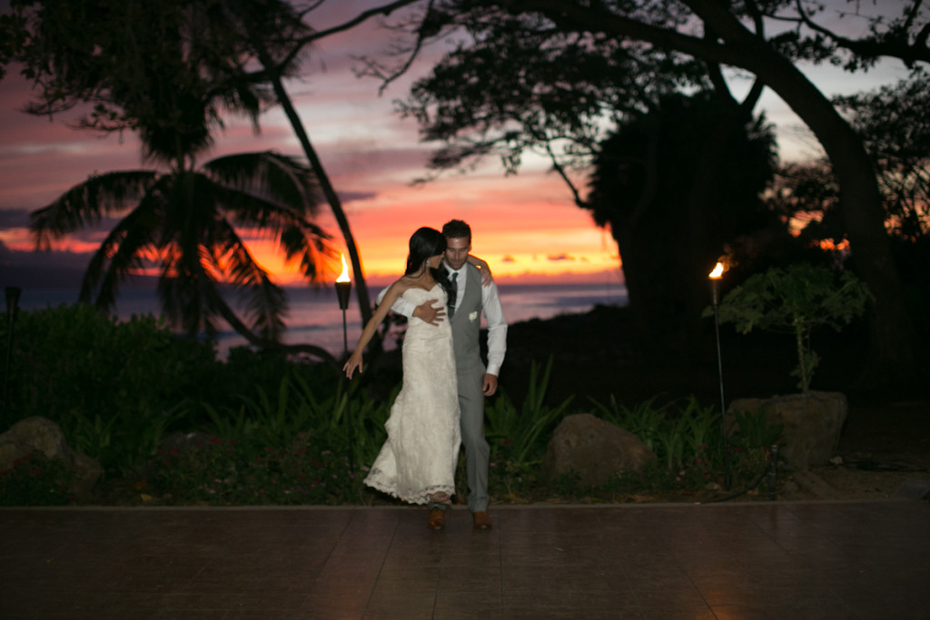 dance at olowalu, sunset on fire