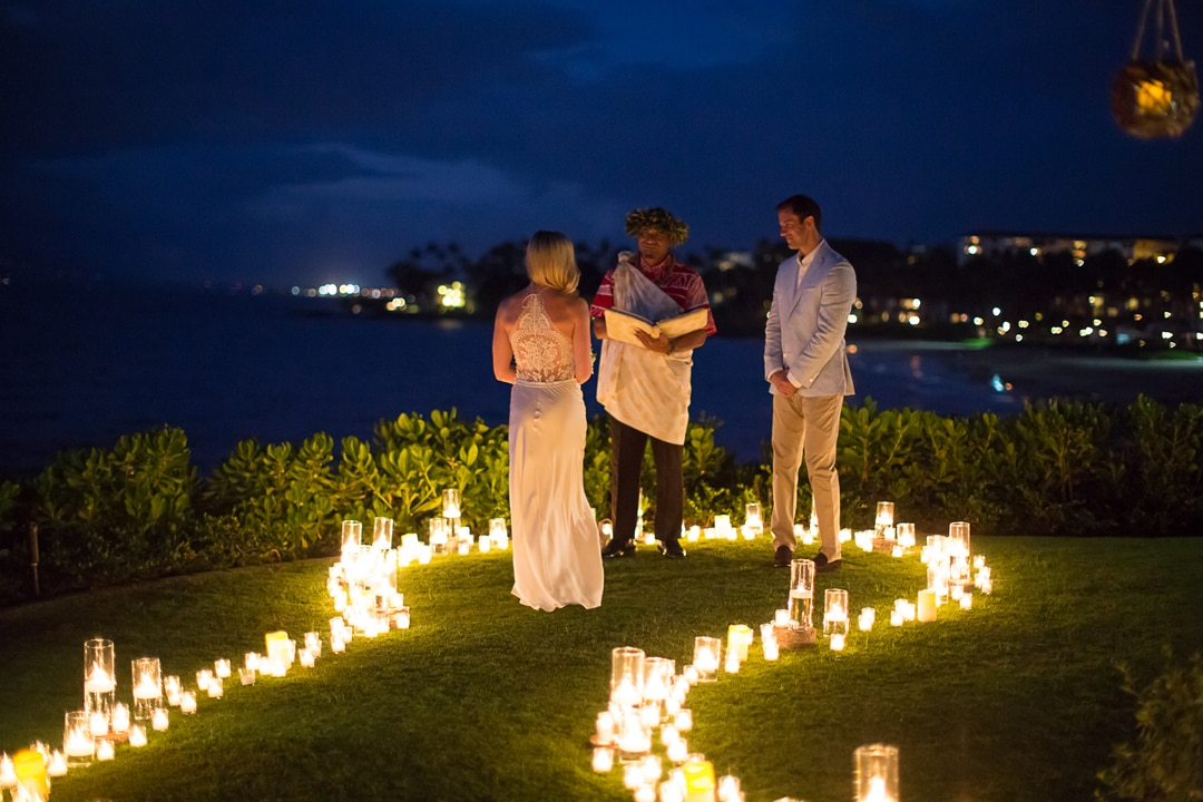 evening ceremony at four seasons maui