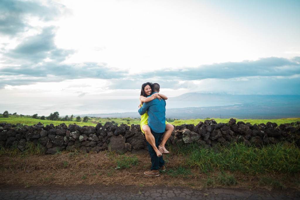 fun engagement shoot in Hawaii