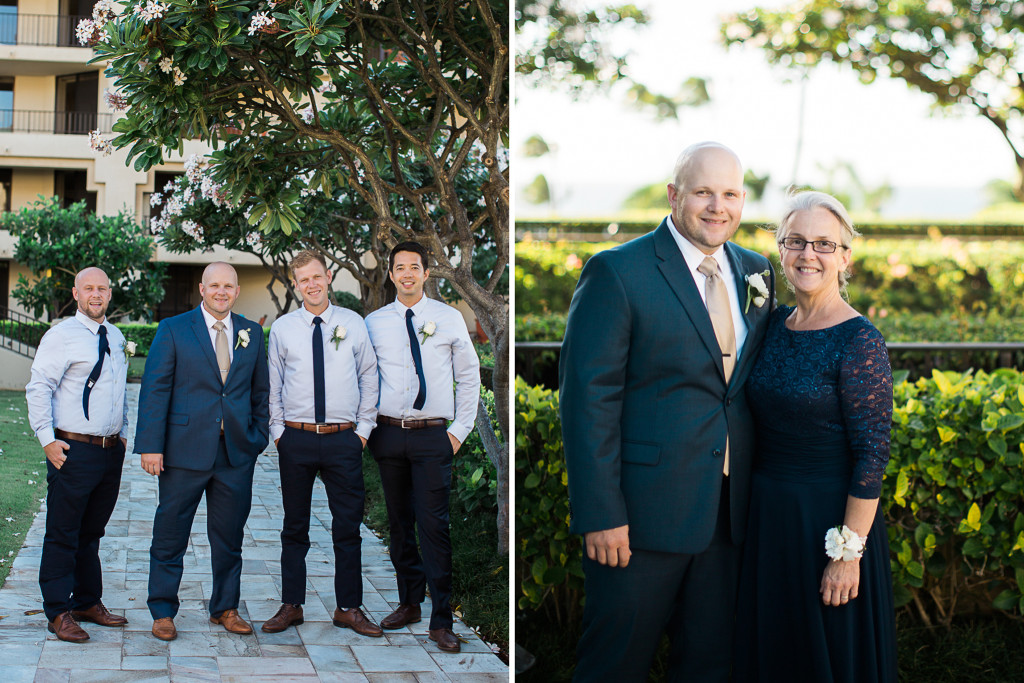groom and friends and mom