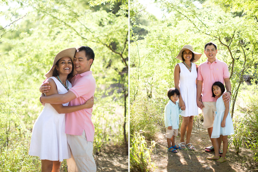 family photos, maui shade, greenery