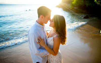 Sweet Kapalua Bay Engagement