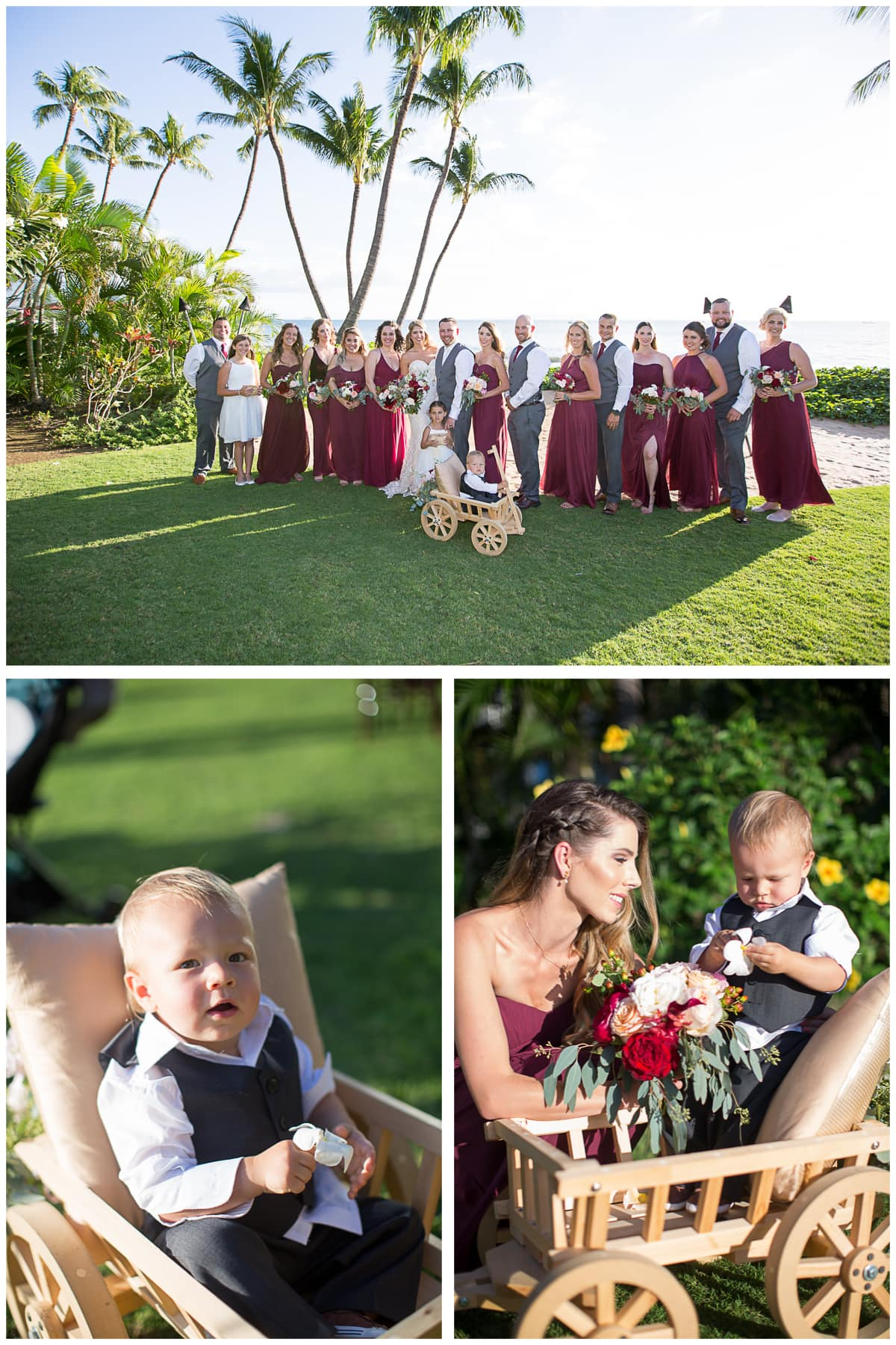 Large Bridal party Sugar Beach Events