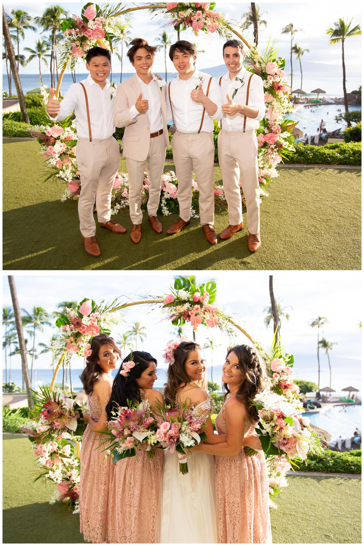 Shin Lim bridal party Maui