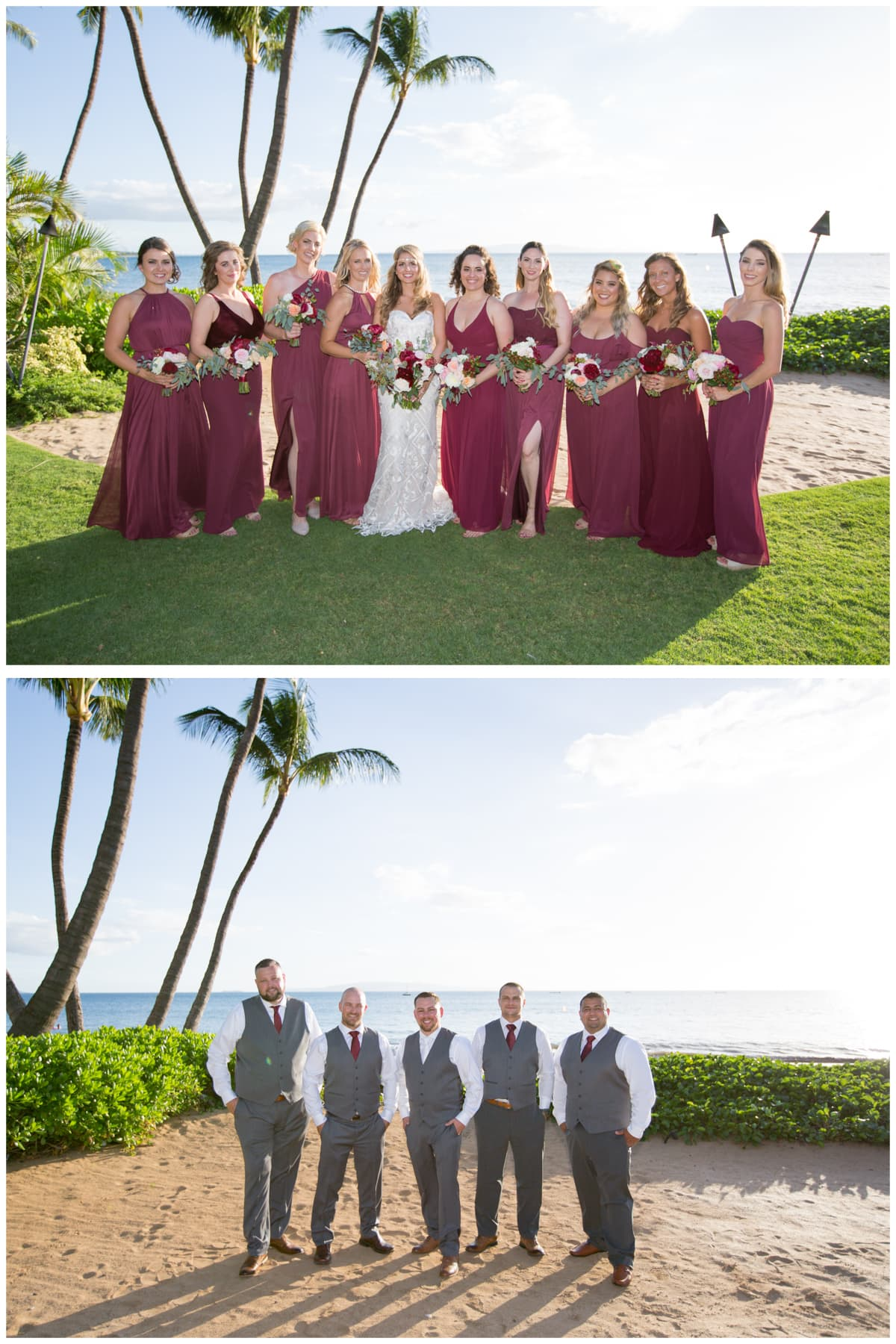 Maui Weddings Bridesmaids Groomsmen
