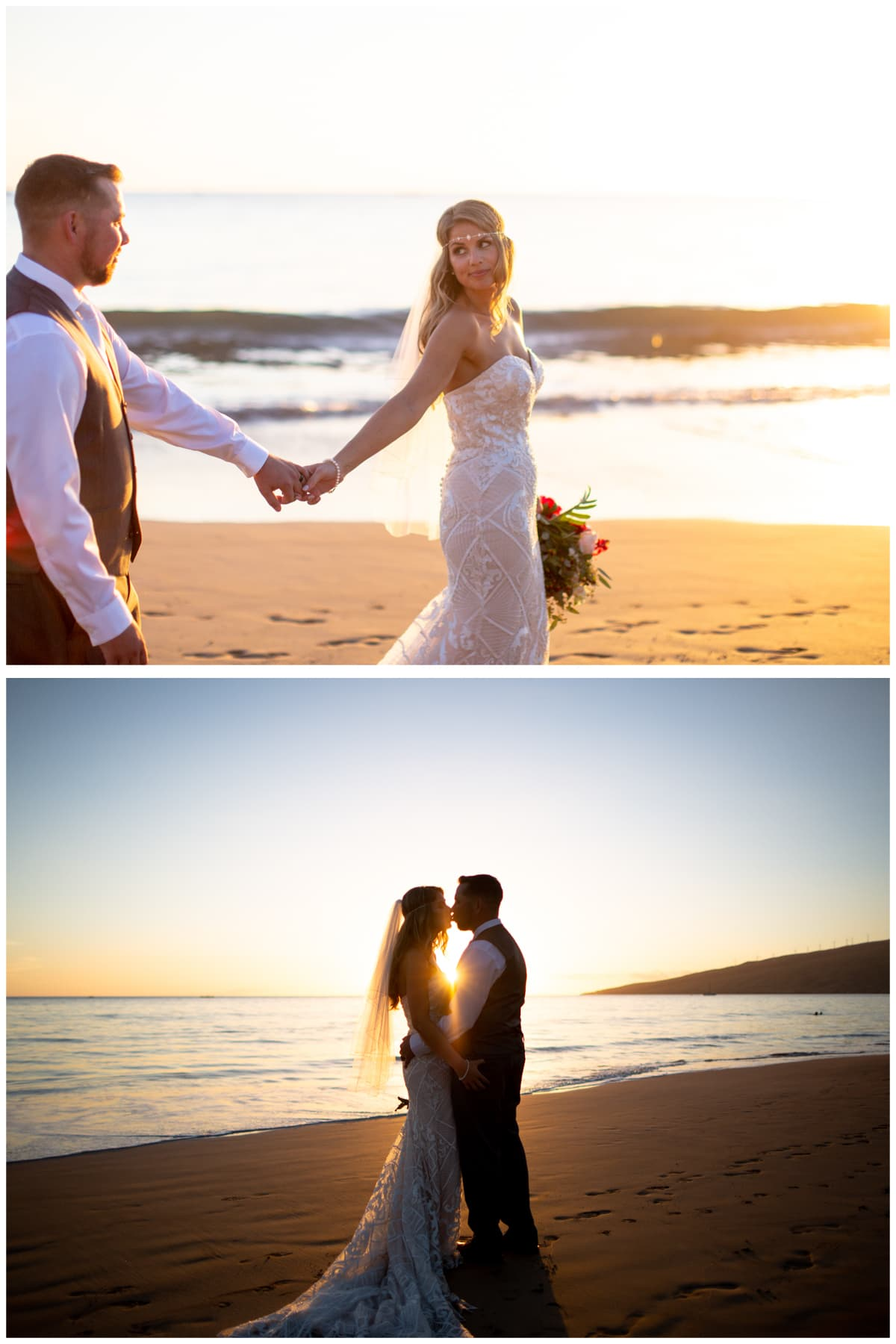 Sugar Beach Maui Sunset Wedding Photos