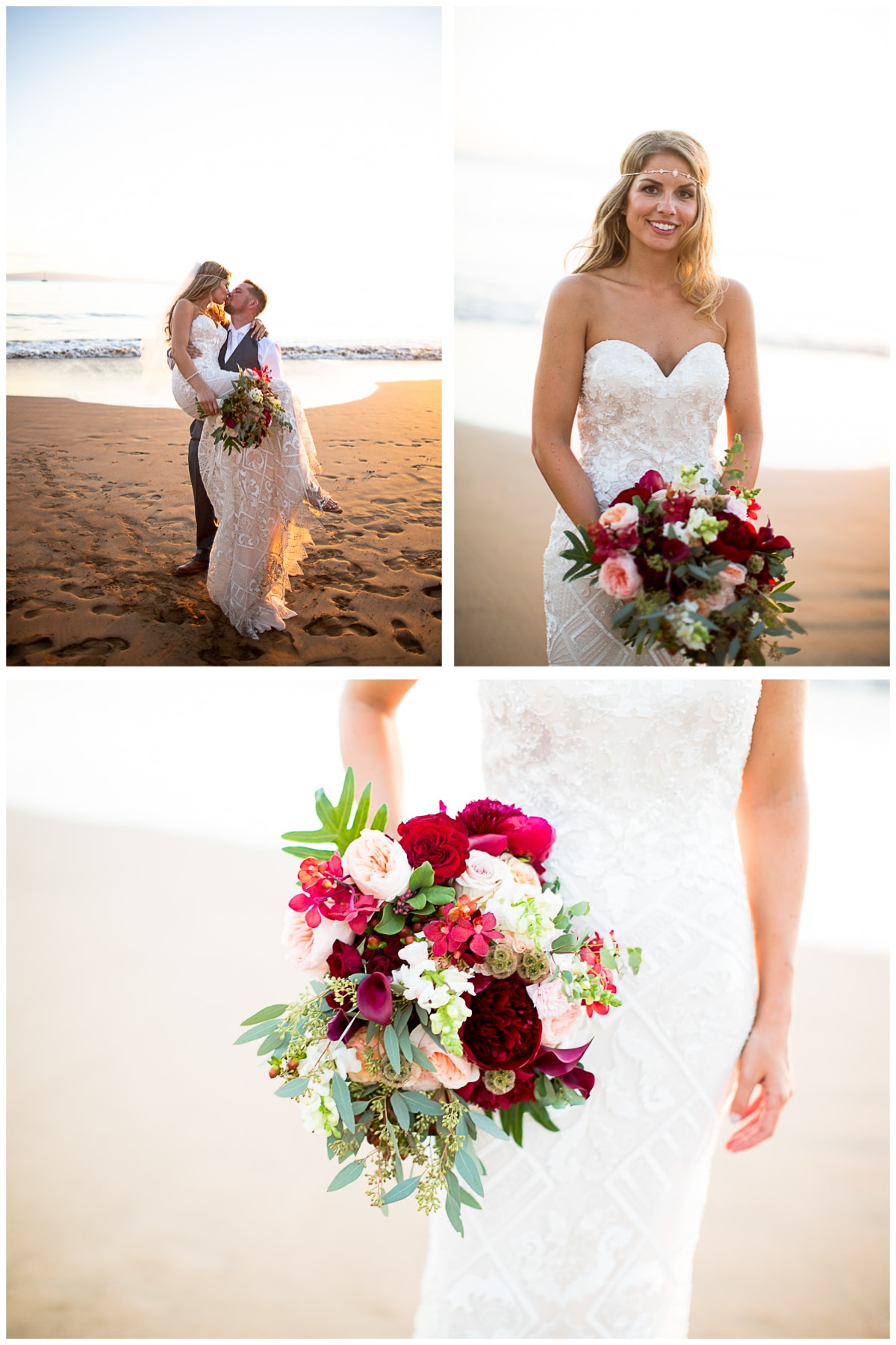 Beach Bride Sugar Beach Maui Wedding #Sugarbeachwedding #mauiwedding #hawaiiweddings
