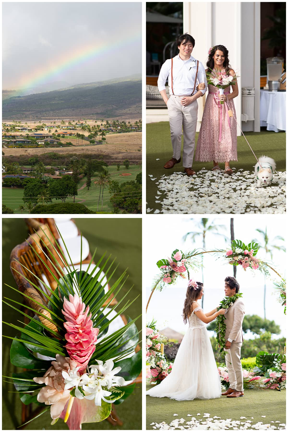 shin lim wedding hyatt maui details rainbow